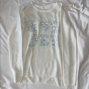 🎀girls sweater in white